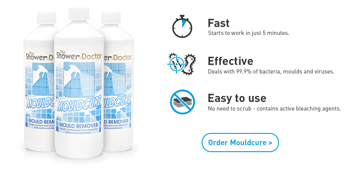 Order Mouldcure Mould removal Spray from The Shower Doctor - Fast. Effective. Easy to use.