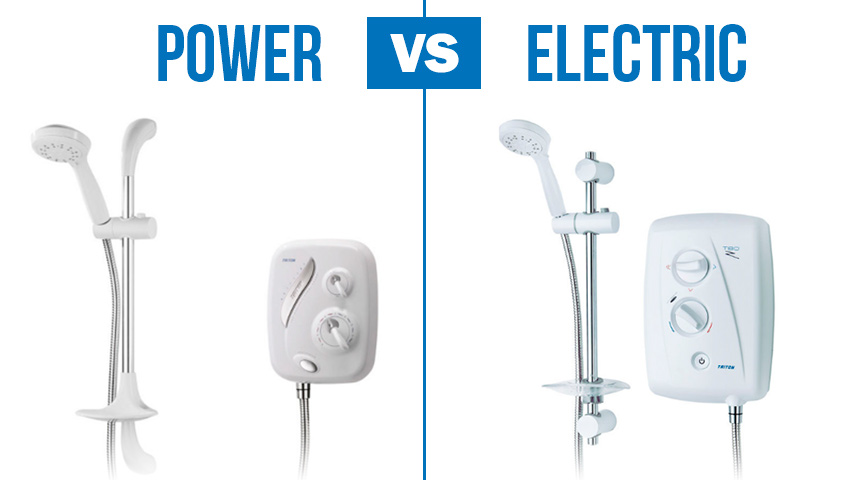power showers vs electric showers what s the difference. Black Bedroom Furniture Sets. Home Design Ideas