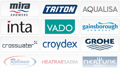 Triton, Aqualisa, Bristan, Stuart Turner, Salamander, Mira, Vado, Ultra, Grohe, Galaxy, Gainsborough
