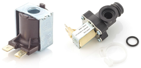 Solenoid coil and solenoid valve.