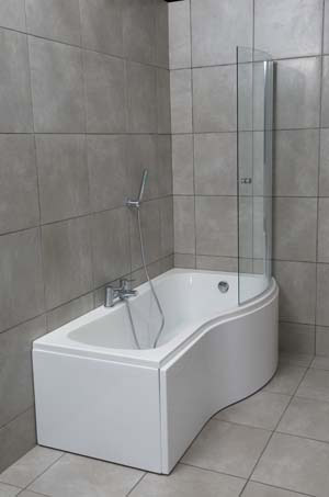Bowmore P Shape Bath Shower Screen And Panels