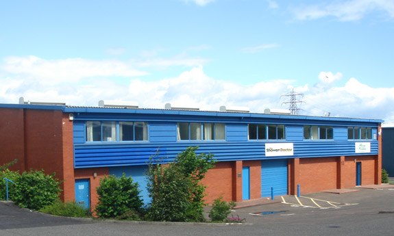 The Shower Doctor Edinburgh warehouse at Wester Hailes Industrial Estate